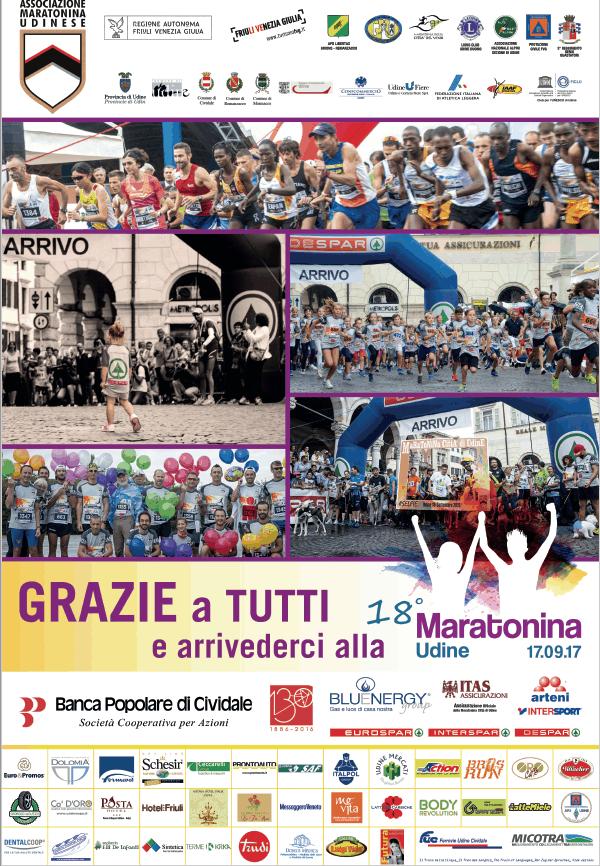 Grazie a tutti e arrivederci alla 18 Maratonina di Udine!